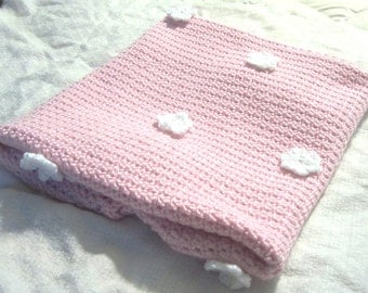 Pink Baby Blanket and Hat set, Girls baby blanket, recieving blanket, new baby gift, baby shower gift, Baby Girl, Infant Bedding
