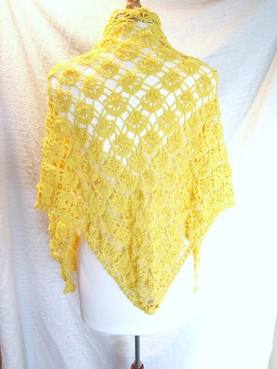 Crochet Shawl Pattern, Yellow Shawl, Crochet Shawl, Lace Shawl, Crochet Shawl Pattern, Crochet Wrap Pattern, Crochet Lace Shawl