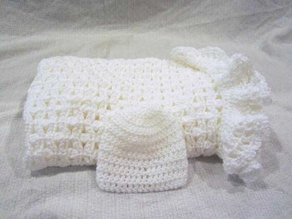 Crochet Baby Blanket and Hat - Crochet Baby Blanket