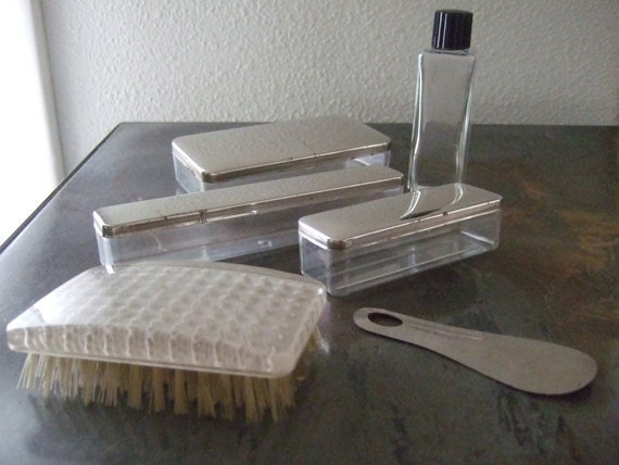 Vintage Travel Containers for Toiletries 6 Pc Set