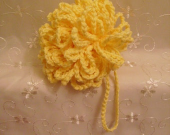 Large Cotton Bath Sponge Pouf- Other Sizes Made to Order