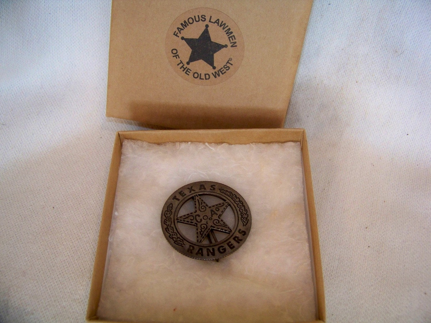 Texas Ranger Peso Badge Made From A Real Mexican Peso