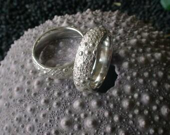 Sea Urchin Wedding Bands