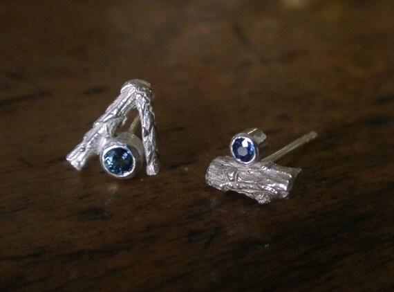Sapphire Twig Studs