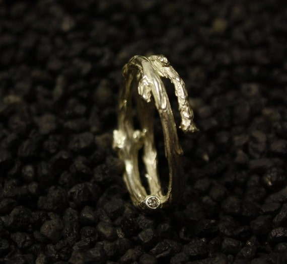 Juniper Diamond Twig Ring