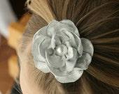 Silver Flower Hair Clip