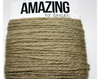 20 yards of hand-dyed natural wool yarn
