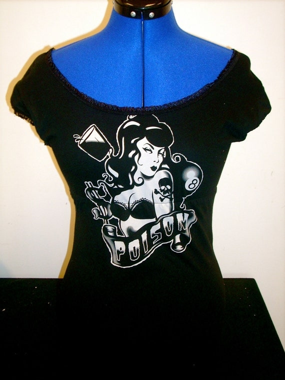 Custom Lucky 13 Poison Babydoll Tee in Your Size