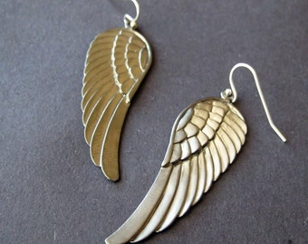 guardian angel wing earrings
