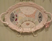shabby chic pink mosaic tray