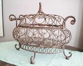 Bronze metal basket