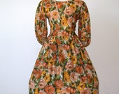 RESERVED     1960s floral day dress