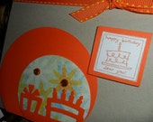 Sale - Birthday cards - set of 5 with envelopes
