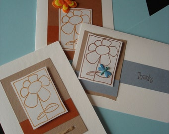Thank you cards - set of 3