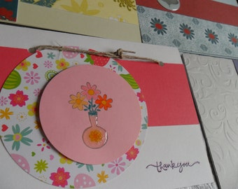 Flowers - set of 10 multi-occasion cards with envelopes.