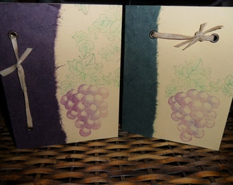 The Grape Bunch - set of 2 blank cards with envelopes