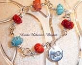 Southwest Bracelet with Lampwork Glass Beads