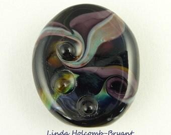 Whirlpool Lampwork Glass Focal Bead