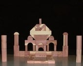 Wooden building blocks (toy wooden building blocks) of Eastern Red Cedar (64  pc wooden building block set)