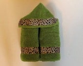 Hooded Baby Towel Cheetah