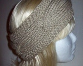 Lovely Beige Cable Headband