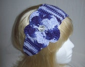 Lovely Ombre Purple/Lilac Flowered Headband