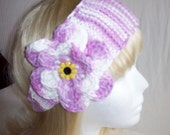 Lovely Ombre Lilac/White Flowered Headband
