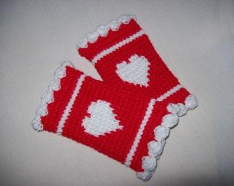 Lovely Red Fingerless Gloves