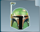Boba Fett Helmet vinyl decal from Star Wars