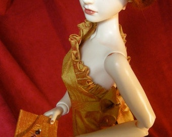 BJD dress Tangerine Dreams, an evening gown