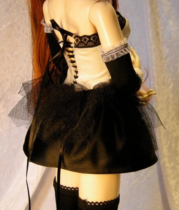 "BJD doll outfit ""Black Swan"""
