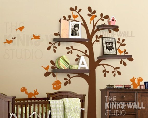 Charming Tree Wall Decal Shelf : To Kids Wall Decal Wall Sticker Tree Decal Vinyl  Decal