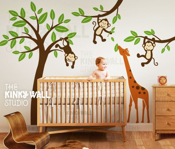 Popular items for giraffe wall decals on Etsy
