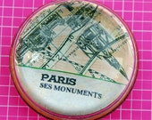 Glass Paperweight. Visit Paris without leaving your desk.  This large glass paperweight will take you there.