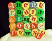 Alphabet magnets - .95 cents each. Colorful bright bold large letters.