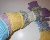 Extra Extra Long Recycled Sweater Fingerless Gloves Arm Warmers