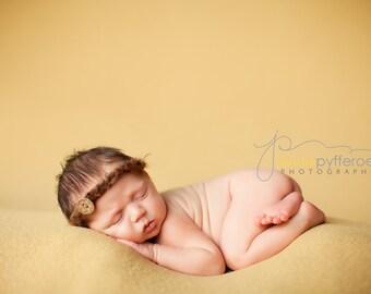 Brown Newborn Tieback, Natural Photo Prop, Brown Baby Halo, Mohair Newborn Tieback, Newborn Photo Prop, Natural Props, Brown Baby Headband