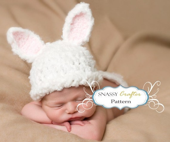 Crochet Pattern For Newborn Bunny Hat : Baby Hat Pattern Crochet Newborn Bunny Pattern