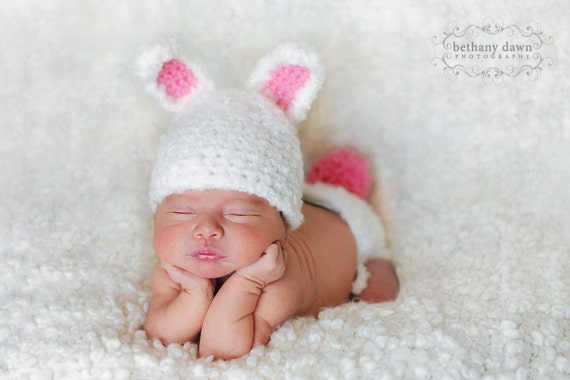 Crochet Pattern For Newborn Bunny Hat : Bunny Hat Pattern Crochet Diaper Cover Pattern Newborn Hat