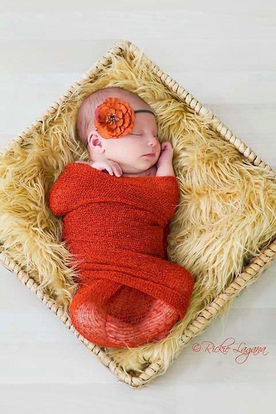 Newborn Photo Prop, Newborn Wrap, Baby Wrap, Baby Headband, Newborn Headband, Photo Prop, Knit Knit Wrap, Layer Fabric