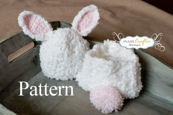Crochet Pattern For Newborn Bunny Hat : Crochet Bunny Hat Pattern Diaper Cover Pattern Newborn Hat
