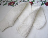 White Double Cable Ladies or man  Socks