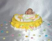 Doll crib bed bedding crochet pattern PDF