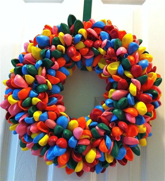 Balloon Wreath, Birthday Wreath