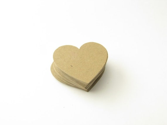 Kraft Paper Hearts - Heart Confetti - Die Cut Hearts - Die Cut Confetti - Rustic Wedding Confetti - Barn Wedding Confetti - Table Scatter