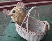 Cute mouse basket in pastel colors