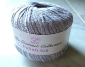Yarn: Ribbon Cotton, Linen and Viscose in Light Grape- Made in Italy