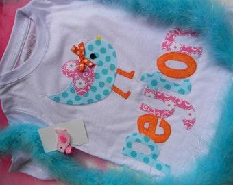 EXCLUSIVE Sweet Tweet Birdie Applique T Shirt for Children by Bubblebabys