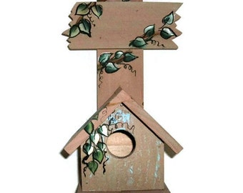 Hand Crafted Hand Painted bird House Stand, Birdhouse, A Gift For Any Occasion