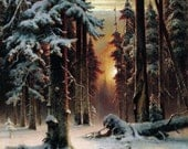 A Winter Sunset - Cross stitch pattern pdf format